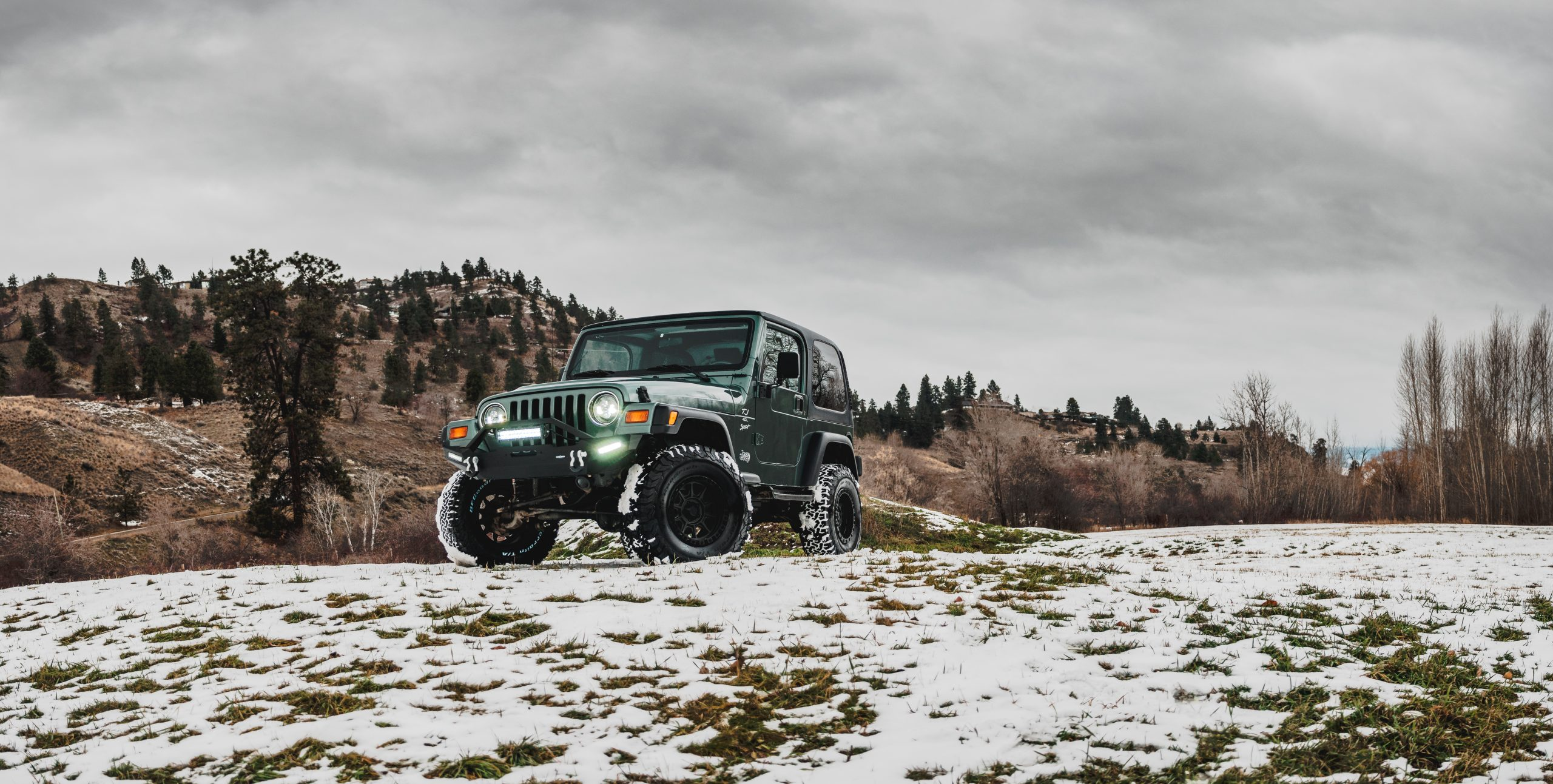 Jeep TJ with lift kit modified by August Garage in Kelowna BC