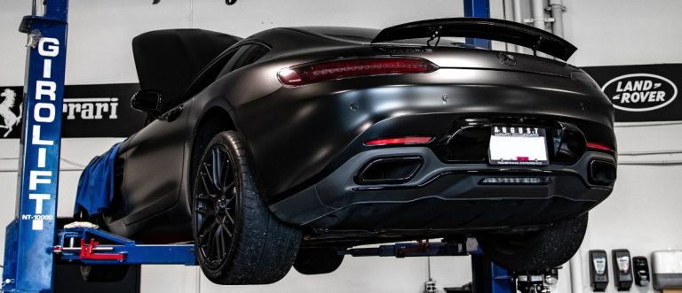Modified Mercedes AMG GT S with Eurocharged Tune done by August Garage in Kelowna BC
