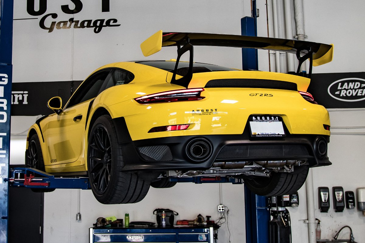 Fi Exhaust Install - Porsche 911 GT2 RS at August Garage