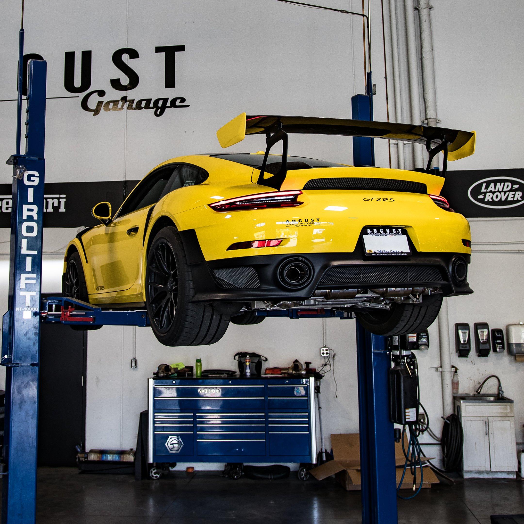 Fi Exhaust Install - Frequency Intelligent Exhaust - Porsche 911 GT2 RS at August Garage